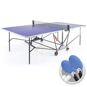 Kettler Axos 2 Outdoor Table Tennis Table with Lockable Wheels
